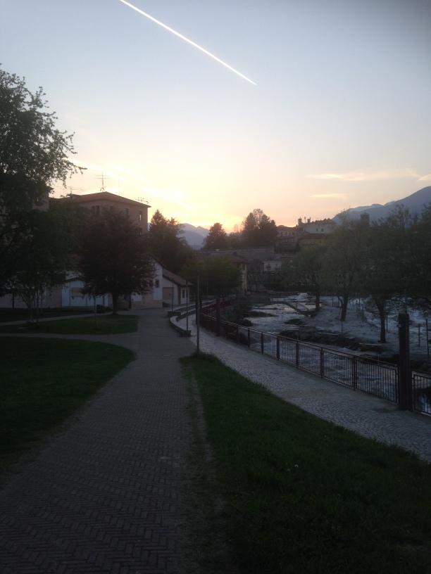 Sunset in Ivrea