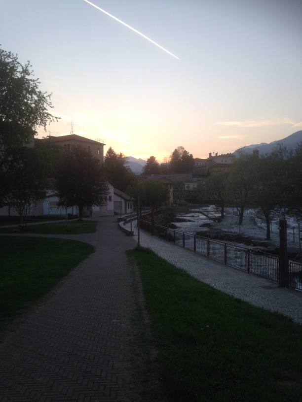 Sunset in Ivrea